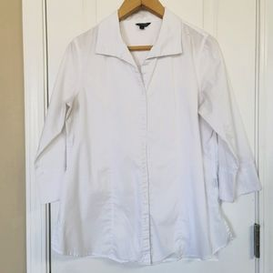 Bogari Classic White Button Up Blouse